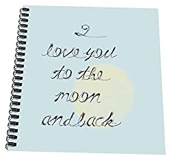 3dRose db_179044_2 I Love You To The Moon And Back Memory Book, 12 x 12