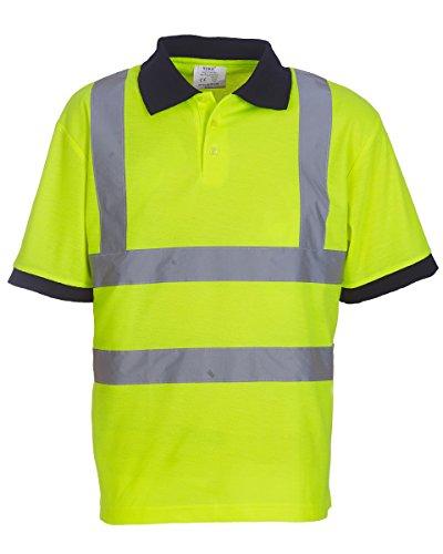 Yoko Warnweste Polo Shirt Short Sleeve Hi-Vis Yellow