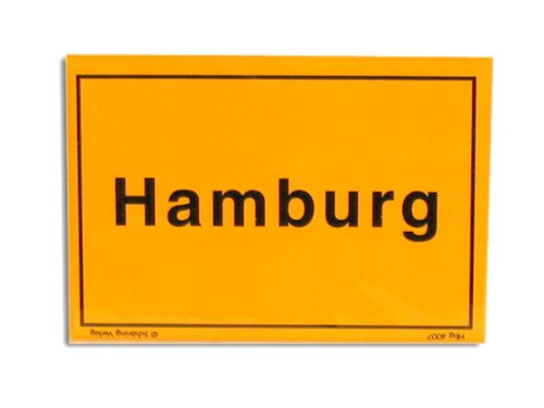 Magnet Ortsschild Hamburg