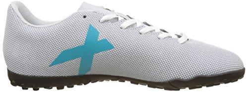 adidas Herren X 17.4 Tf Fußballschuhe Blau (Footwear White/Energy Blue/Clear Grey)