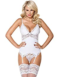 950f06af75 Amazon.co.uk  White - Bustiers   Corsets   Lingerie   Underwear ...