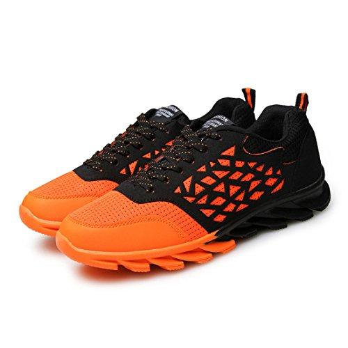 Men's Lace Up Breathable Trainers Shoes Orange