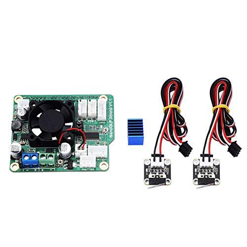 Hemobllo Scheda di espansione V1.1 Shield NanoDLP 9-28 V con finecorsa di fine corsa per stampante 3D Raspberry Pi 3B fotopolimerizzabile