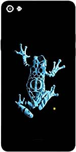 Snoogg Frog On My Phone Designer Protective Back Case Cover For Micromax Canvas Silver 5 Q450