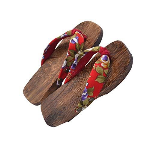 SUPVOX niños japoneses Zuecos de Madera Sandalias Accesorios Kimono Zapatos