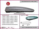 Proposteonline portabagagli Box Tetto Auto 197 x 73 x 37 cm per Fiat Freemont 2011  con Barre Portapacchi portatutto gm85xc