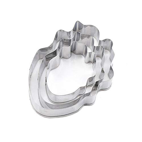 Vikenner Edelstahl Metall Ausstechformen Set DIY Tools für BackenTortendekorationen Plätzchenformen Tulpe Blume 3Stücke/ Set