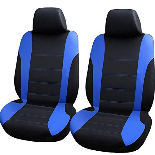 LALEO Auto Sitzbezüge,Universal Vordere Reihe Polyester Atmungsaktiv Sitzschutz Schonbezüge Autositz,Sitzauflagen Grau, Rot, Blau,Blue