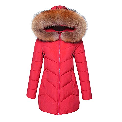 Quaan Frau Outwear, Winter Warm Faux Pelz Mantel Mit Kapuze Dick Warm Schlank Lange Jacke Mantel...