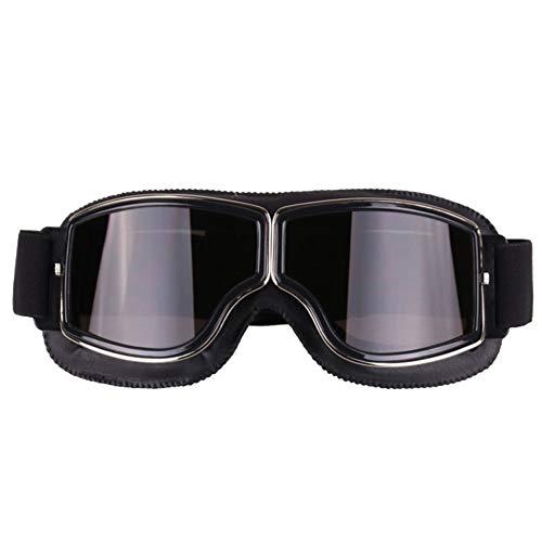 AchidistviQ Universal Outdoor Winddichte Vintage Motorrad Brille Motorrad Helm Brille Motorrad Motorradbrille Radfahren Langlauf Brille Retro Outdoor Sport Winddicht Spiegel 2#