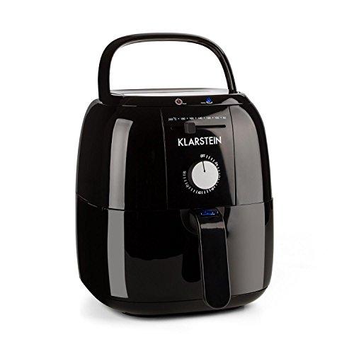 Klarstein-VitAir-Fries-Basic-Freidora-sin-aceite-1400-W-potencia-3L-capacidad-regulador-temperatura-aire-caliente-80-200-C-cocina-saludable-baja-en-calorias-negra