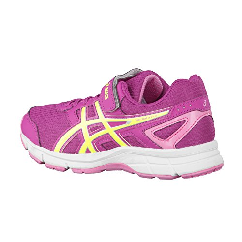 ASICS Pre Galaxy 8 Junior Chaussure De Course à Pied - SS16 Berry/Flash Yellow/Flamingo