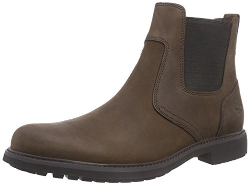 Timberland Herren Stormbucks Pull-On Chelsea Boots, Braun (Burnished Dark Brown Oiled), 44 EU -