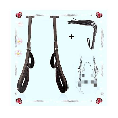 Poison Pear Correas móviles portátiles ajustables Swing, puerta colgante Swing Toys con látigo...