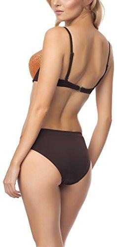 Antie Completo Bikini da Donna C4ST1R3C1 S Arancione/Marrone