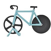 prettygood7 - Cortador de pizza antiadherente para bicicleta (acero inoxidable)
