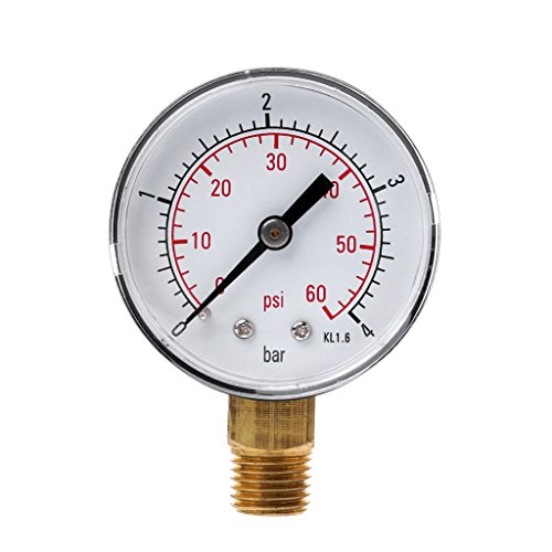 "chenguId 0-60 PSI Mini Manometer Pool Spa Filter Wasserdruckmessung 1/4""NPT"
