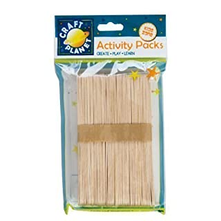 50 x große Jumbo Flach natur Holz Lollipop Ice Lolly Sticks Art Craft