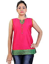 Carrel Cotton Silk Fabric Women Short Kurti(AGSPL-3259-JIY-KT-07)