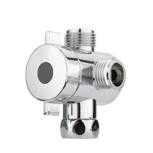 er Kopf Dusche Drei T-Adapter G1/2Wege Ventil für Handbrause (Chrome) ()