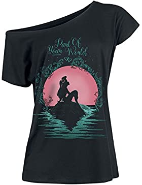 Ariel La Sirenita Part of Your World Camiseta Mujer Negro