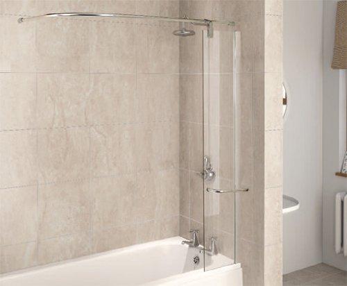 Aqualux 1160078 - Mampara de ducha (tamaño: 1500x300mm)