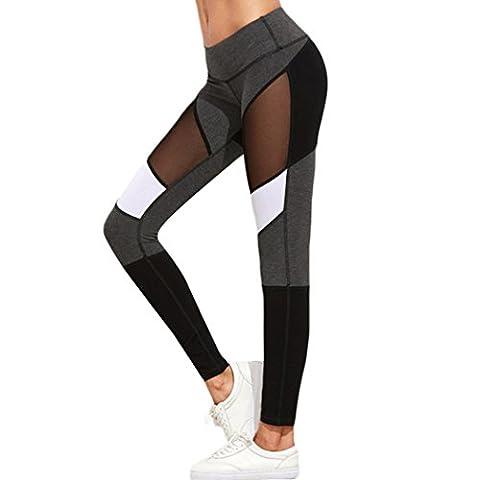 Mioim Women Yoga Pants Outdoor Sports Trousers Athletic Gym Fitness Mesh Elastic Joggers Leggings
