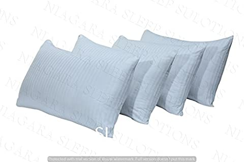 4 Pack 2 Pairs 200TC Cotton Sateen Soft Shell Medium Quality Thick Pillows Polycotton Pack of 4 (Polycotton, 4