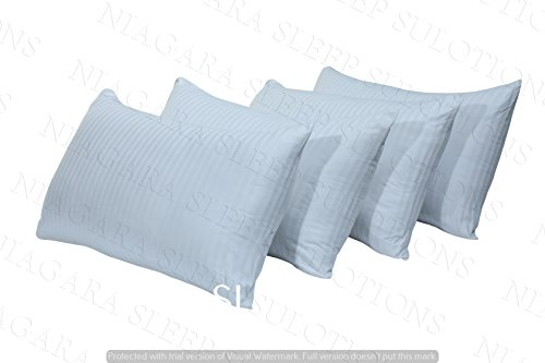 4 Pack 2 Pairs 200TC Cotton Sateen Soft Shell Medium Quality Thick Pillows Polycotton Pack Of 4 (Polycotton, 4 Pack)