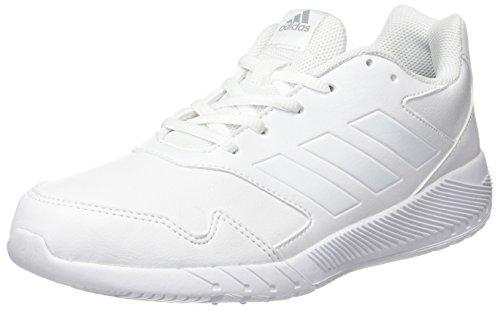 adidas Unisex-Kinder AltaRun K Laufschuhe, Weiß (Ftwr White/Ftwr White/Mid Grey S14), 36 EU (Schuhe Kinder Tennis Jungen)