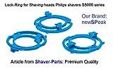 Anello di sicurezza (piastra di ritenzione, anelli di bloccaggio) per Philips Testine di rasatura modello/tipo SH50 (colore blu). Serie di rasoio S5000