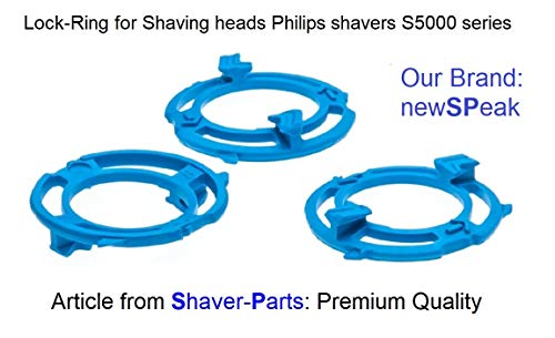 Sicherungsring (Halterung, Platte) für Philips Scherköpfe Model SH50 (Farbe blau). Rasierer Serien S5000 -