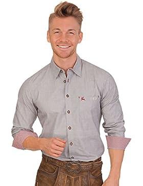 Trachtenhemd mit langem Arm - FILSEN - grau
