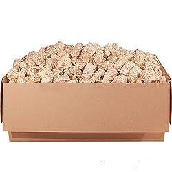 ORANGE DEAL 5,0 kg Kamin- und Grillanzünder (Ofenanzünder, Anzündwolle, Anzündhilfe) aus Premium Holzwolle und Wachs - schnell und stark