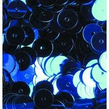 efco rund flach Pailletten, blau, 6mm, 5g, 500STK -
