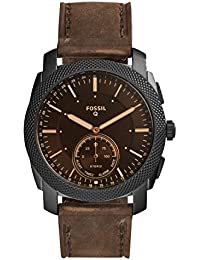 Fossil Machine Hybrid Smartwatch Analog Black Dial Men's Watch-FTW1163