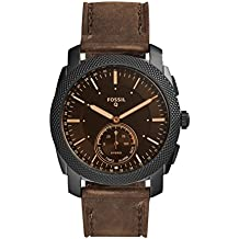 Fossil Machine Hybrid Smartwatch Analog Black Dial Men's Watch-FTW1163