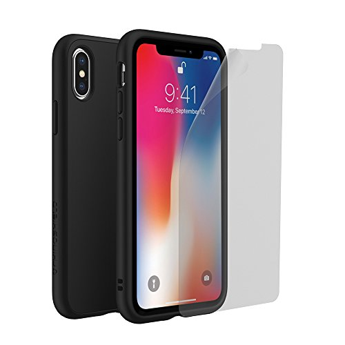 iPhone X [solidsuit] Fall/iPhone X [solidsuit] Bundle, with Screen Protector, SP with Classic Black