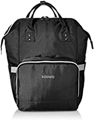 Amazon Brand - Solimo Baby Diaper Bag, Black