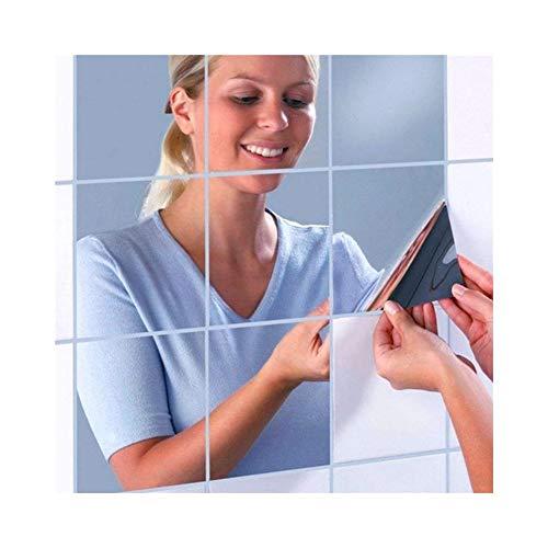 LJFYMX Azulejos Adhesivos 16 Pegatinas Pared Espejo: