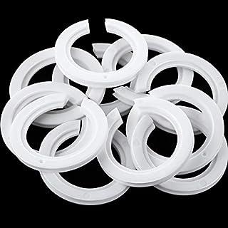 20 Packung E27 bis E14 Kunststoff Lampenschirm Ring Konverter, Lampenring Reduzierstück zur Montage von Edison Schraubenlampen an Bajonettkappen