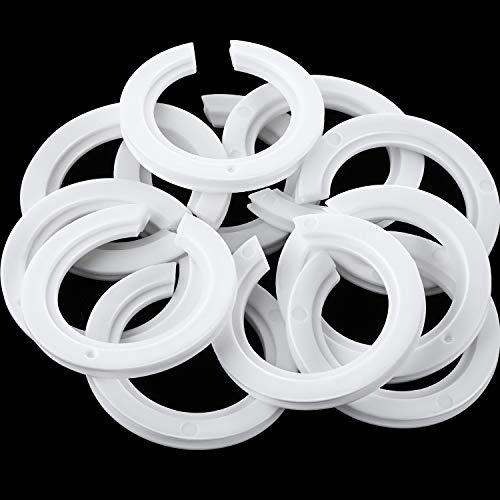20 Packung E27 bis E14 Kunststoff Lampenschirm Ring Konverter, Lampenring Reduzierstück zur Montage...