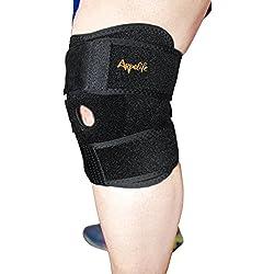 Rodillera deportiva ajustable. Rodillera ortopédica terapéutica para aliviar y prevenir lesiones.