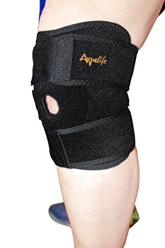Rodillera deportiva de neopreno ajustable. Rodillera ortopédica terapéutica para aliviar y prevenir lesiones. Rodillera estabilizadora de compresión para menisco, ligamento lateral y cruzado anterior