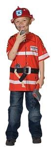 Rubbies - Disfraz de bombero para niño, talla 128 cm (R12830-128)
