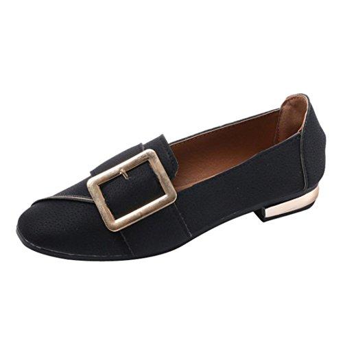 Scarpe moda da donna, sonnena scarpe basse con tacco basso con fibbia quadrata scarpe da donna retrò con fondo piatto e fibbia superficiale scarpe da festa e lavoro da donna
