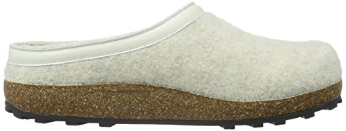 Giesswein Unisex-Erwachsene Chiemsee Pantoffeln Weiß (Lamm)
