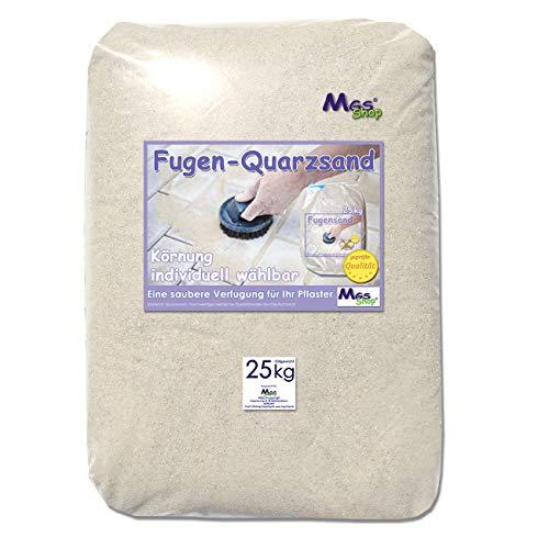 MGS SHOP 25kg Fugensand geprüfte Qualität Quarzsand helle Körnung (0.1-0.3 mm)