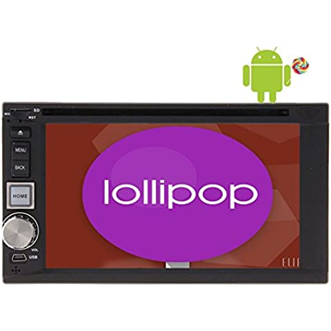 Android 5.1.1 Lollipop Radio Car Audio Stereo Quad Core Doppio Din Univresal in precipitare Unit¨¤ principale schermo 6.2
