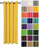 Rollmayer modern Vorhang (Pastellgelb 44) Schal mit Ösen 140x250 cm lichtundurchlässig Gardine, Ösenvorhang Ösenschal für Kinderzimmer, Jugendzimmer, Schlafzimmer, Küche in 40 Farben!